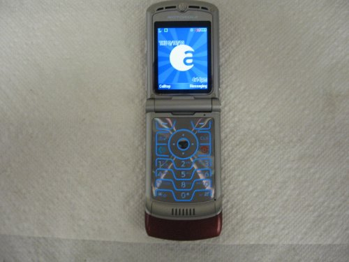 Alltel Motorola RAZR V3a V3 No Contract Red CDMA Camera Flip Cell Phone