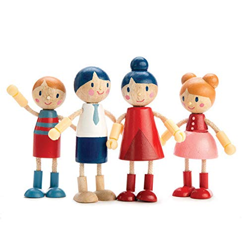 Tender Leaf Toys - Doll Family - Cute Wooden Doll Family for Happy Kid