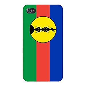 Apple iPhone Custom Case 5 / 5S White Plastic Snap On - World Country National Flags - New Caledonia