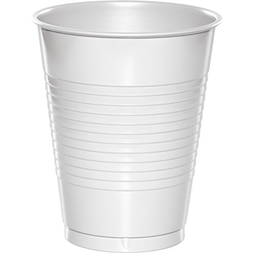 White Plastic Cups 16oz Solid 240ct