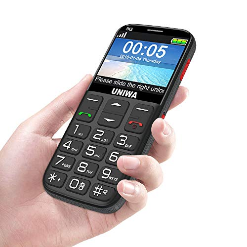 3g Big Button Mobile Phone for Elderly, Senior Mobile Phones Unlocked with Loud Volume Speaker, Large Button, SOS Function, Charging Dock, support 2g&3g network, Easy Use for Old/Senior Person