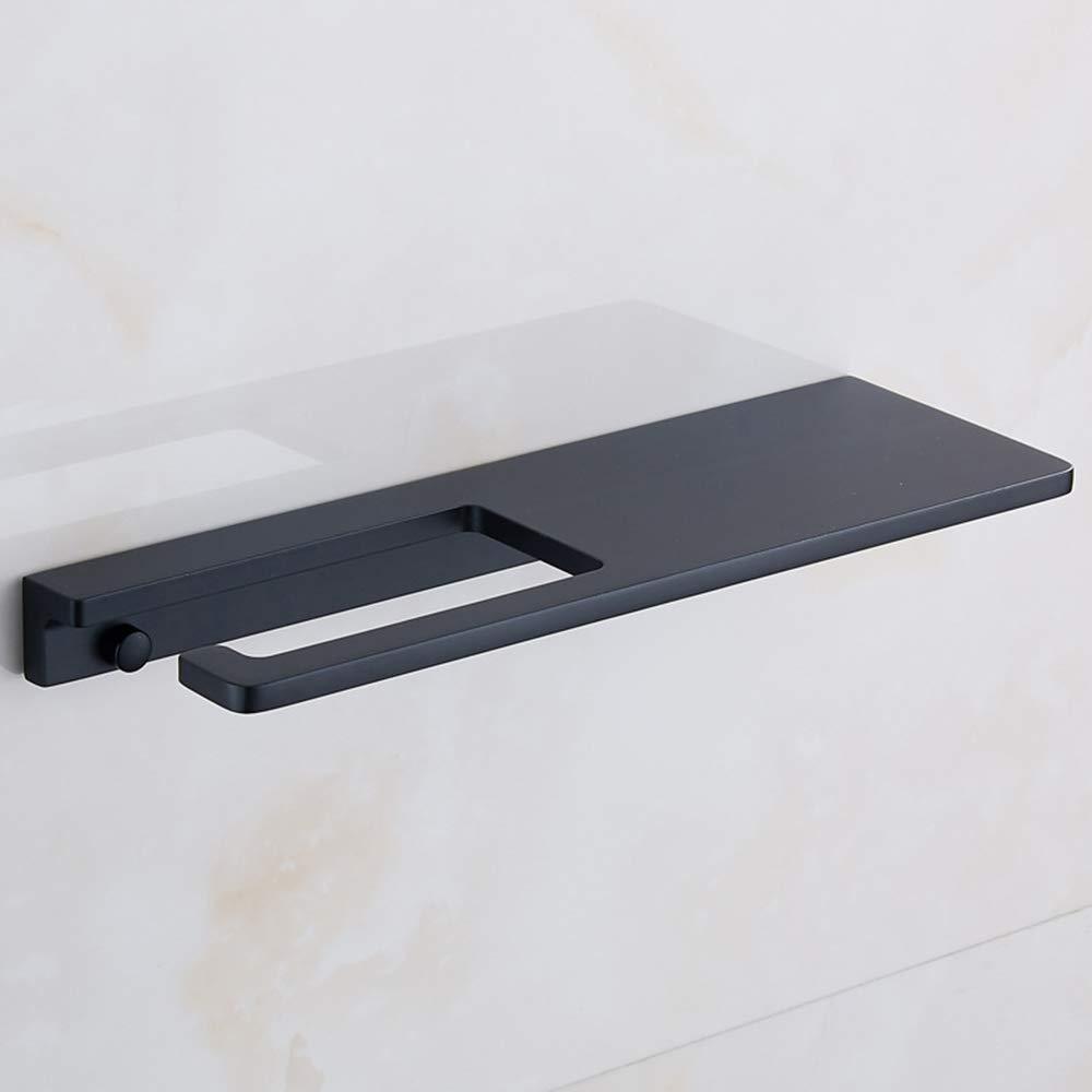ERT Toilet Paper Holder Mobile Phone Shelf Non-Slip Durable Paper Towel Holder Bathroom Roll Holder (Black)