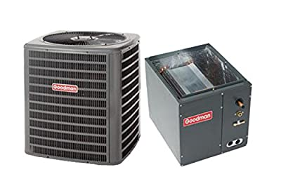 """Goodman 2 Ton 16 SEER AC R-410a with Upflow/Downflow Coil 14"""" wide GSX160241/CAPF1824A6"""