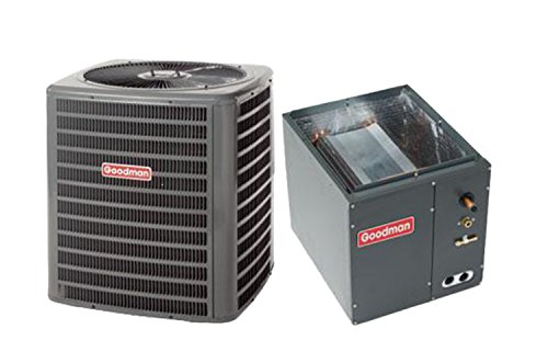 Goodman 1.5 Ton 14 Seer Air Conditioning System with Upflow/Downflow Evaporator Coil
