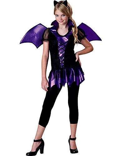 InCharacter Costumes Girls Bat Reputation  Costume, Purple/Black, Large
