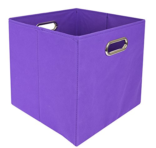 Modern Littles Color Pop Folding Storage Bin, Solid Purple (Game Video Diaper Cloth)
