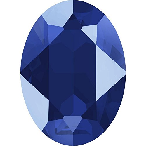 4120 Swarovski Fancy Stones Oval Lacquer Colours | Crystal Royal Blue | 18x13mm - Pack of 1 | Small & Wholesale Packs | Free Delivery - Fancy Crystal