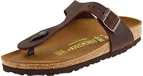 (Birkenstock Gizeh Habana Oiled Leather Sandal 36 R (US Women's)