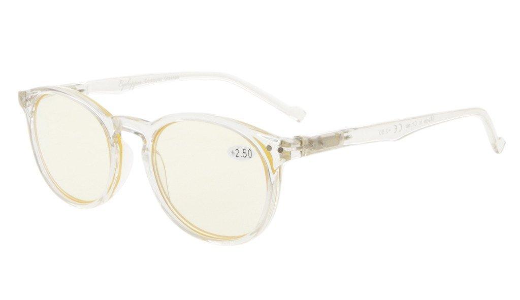 89ec1b65c8 Eyekepper Retro oval ronda gafas de ordenador de primavera-bisagras gafas  de ordenador Marco Claro (Lente Amarilla, +0.00): Amazon.es: Salud y  cuidado ...