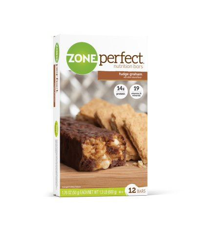 Zone Perfect All Natural Nutrition Bar, Fudge Graham, 1.76-Ounce Bars in 12-Count Boxes (Pack of 2) (12 Fudge)