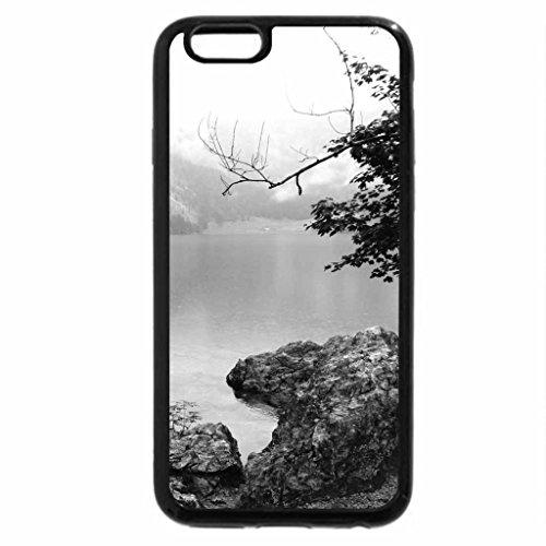 iPhone 6S Plus Case, iPhone 6 Plus Case (Black & White) - Beautiful Bavarian Lake