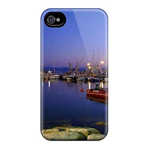 New Arrival Beautiful Harbor Twilight NPUWWGg6505SRkdo Case Cover/ 4/4s Iphone Case