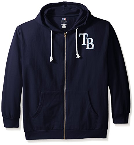 (MLB Milwaukee Brewers Women's Plus Size Zip Hood with Logo, 1X,)