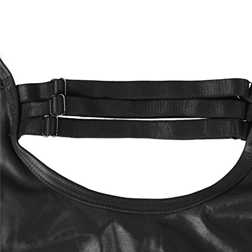 Alalaso Women's Plus Size Black Wet Look Bondage Lingerie by Alalaso Sleepwear (Image #5)