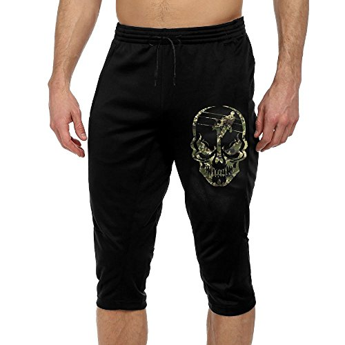 BigManPants Lineman Skull Electrician Camo Exercise Male Vintage Casual Durable French Terry Lounge Pants (Camouflage Uniform French)