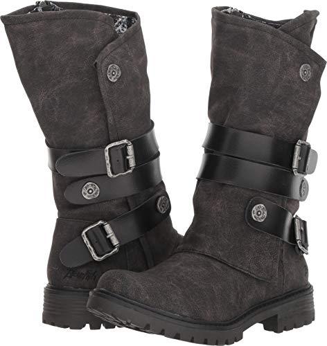 Blowfish Women's Rider Fashion Boot, Black Spindal Polyurethane, 7.5 Medium US