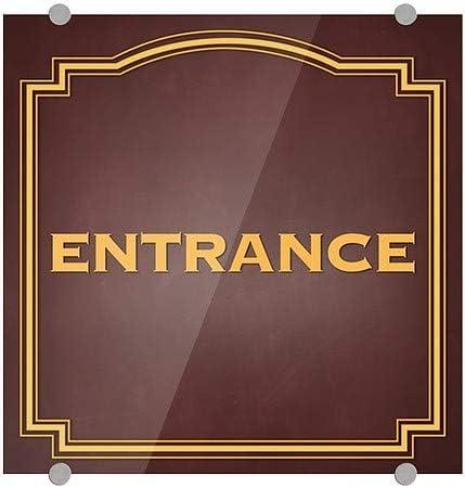 16x16 CGSignLab Entrance Classic Brown Premium Brushed Aluminum Sign 5-Pack