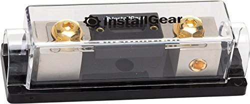 4 Gauge Fuse Holder (InstallGear 0/2/4 Gauge AWG In-Line ANL Fuse Holder with 300 Amp Fuse)