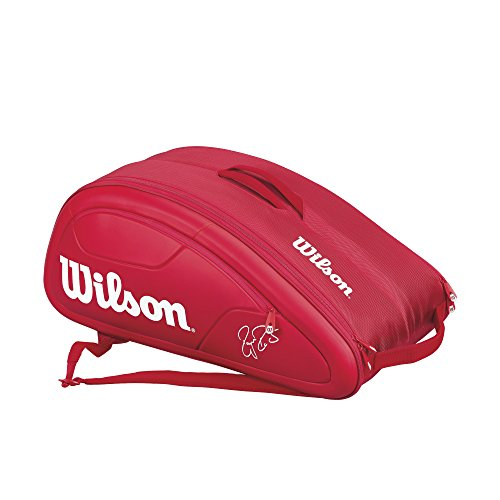 Wilson Federer DNA Collection Racket Bag (Holds up to 12), Red by Wilson (Image #2)