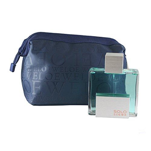 Loewe Solo Intense for Men 2 Pc. Gift Set (Eau De Cologne Spray 4.3-Ounce Plus Bag)