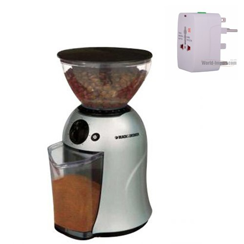 BraunK610 220Volt 50Hz CoffeeMakerAND Black&Decker PRCBM5 220-240volt Deluxe Coffee and Spice Grinder only work in 220 volt country. SHIP WITH STARLITE PLUG ADAPTER KIT ( NOT FOR USA OR CANADA).