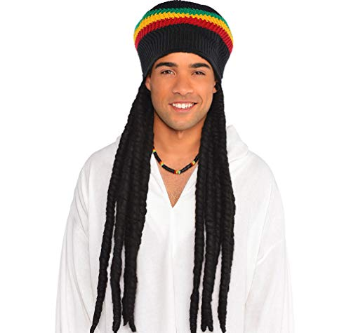 Amscan Rasta Dreadlock Wig with Tam