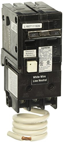 Siemens QF240A Ground Fault Circuit Interrupter, 40 Amp, 2 Pole, 120V, 10,000 ()