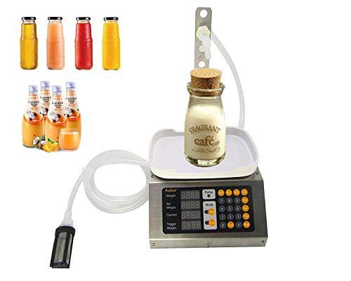 (KUNHEWUHUA 3 liters Automatic Liquid Filler Machine Pure Liquid Bottle Filler Machine for Beverage/Liquor/Vinegar/Milk/Perfum 110V)