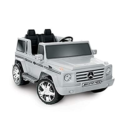 National Products LTD. Battery-Operated Silver 2-Seater Mercedes Benz G55 AMG: Toys & Games