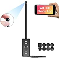 1080P HD WiFi Spy Camera - ENKLOV Portable Small Mini Hidden Cam with Motion Detection, P2P Wireless Digita Video Camcorder for IOS iPhone Android Phone APP Remote View Support 128GB TF-Card