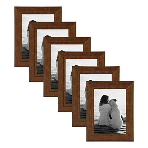 Wood Photo Frames (DesignOvation Kieva Solid Wood Picture Frames, Espresso Brown 5x7, Pack of)