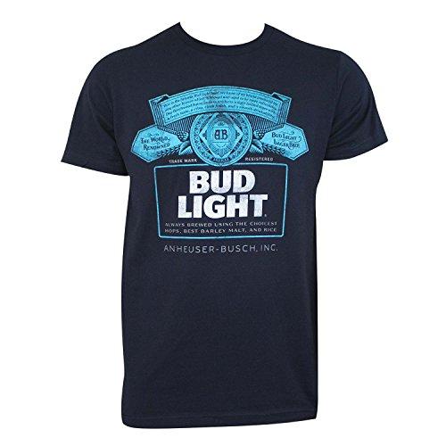 Bud Light Navy Tee Shirt Large Bud Light T-shirt
