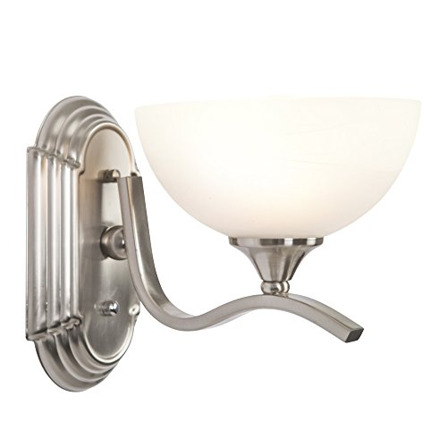 Cheap  Yosemite Home Decor 1391SN Glacier Point Bathroom Vanity Light, Ivory Cloud Glass,..