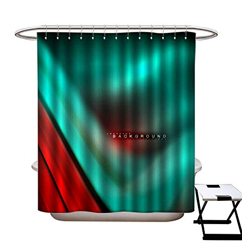 Mildew Resistant Shower Curtain Neon Holographic Fluid Color Wave for Web Wallpaper Pattern Texture and Background Shower CurtainW72 x L96