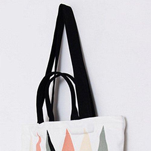 Large Beach Bags Cotton Eco Tote Zipper Handbag with Shopping Tote Orange Student Friendly Canvas Shoulder Westeng Bags Bag BEq8RwtI