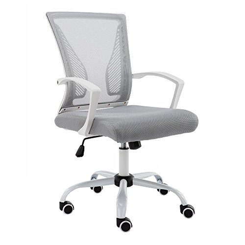 Modern Home Zuna Mid-Back Office Chair - White/Gray by Modernhome