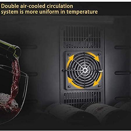 TYUIOYHZX 70W Silent 12 Botellas Frigorífico de Vino, Zonas de Temperatura 11-18 Pantalla táctil Enfriador de Vino, Nevera de Vino con Puerta de Vidrio