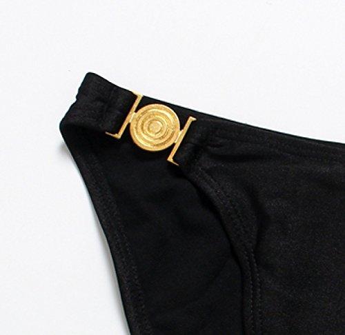 Honda Bikini Traje De Bikini KUWOMINI.Woman Sencilla Cintura Baja Clásica Black