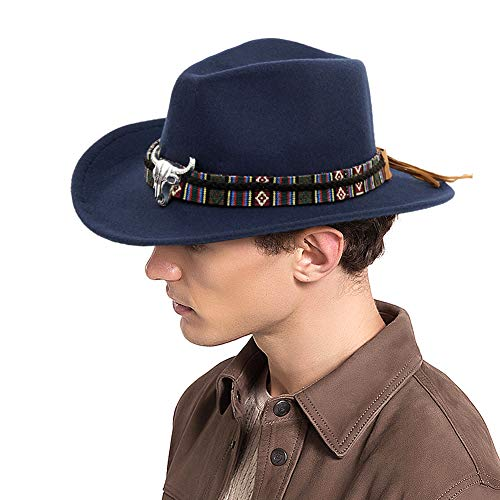 FALE Western Cowboy Hat - Cattleman's with Cavalry Band Blue
