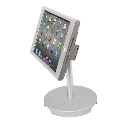 Angel pos 1521040 ipad mini pos kiosk stand enclosure with for Mini projector for ipad best buy