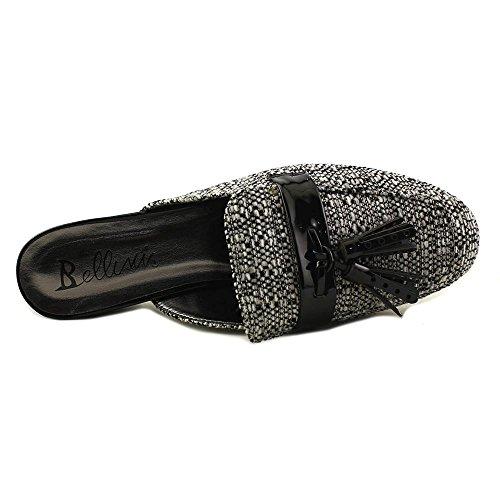 Bellini Mujeres Diary Low Heel Boucle Tweed, Mules De Moda Negro, Blanco
