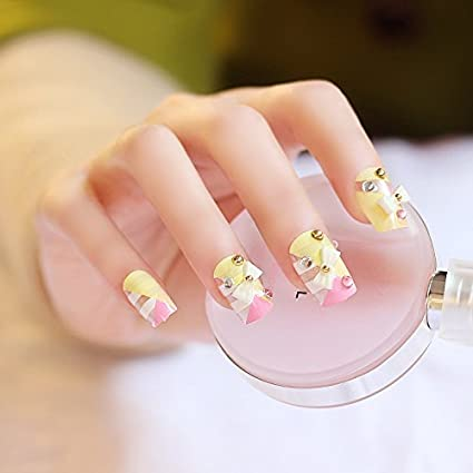 False Nail uñas postizas puntas Fake uñas, francés estilo nail Vivi-08 Fashion adhesivo