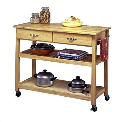 Home Styles Solid Wood Top Kitchen Cart, Natural Finish by Home Styles (Image #2)