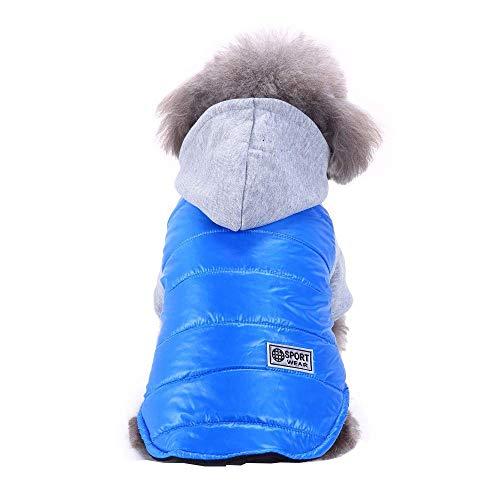 Cute Winter Winter Warm Costume Jacket Coat Apparel for Pet Dog Cat Puppy Vest Hoodie Outwear Fashion T-Shirt Shirt Sky Blue M