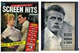 SCREEN HITS with articles, rare photos from BUS STOP with Marilyn Monroe and REBEL WITHOUT A CAUSE with James Dean.