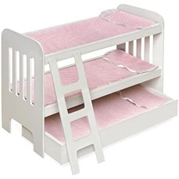 badger basket trundle doll bunk beds with ladder fits american girl dolls - Beds For American Girl Dolls