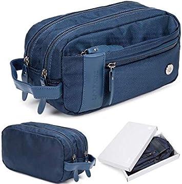 Bolsa de viaje para hombre, impermeable, de calidad, bolsa de maquillaje, bolsa organizadora de cosméticos, disponible en 3 colores y caja de regalo: Amazon.es: Equipaje