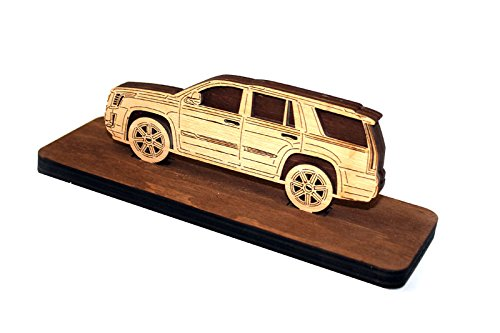 Car Wood Figurine Cadillac Escalade IV 2014- Plywood Sideview Statuette Automobile - Economy Shipping Usps International