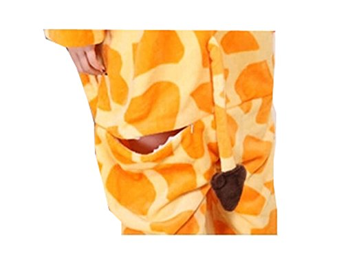 calda flanella Pigiama and motivo da nightwear in pyjamas giraffa unisex adulto Unisex CqR8wx