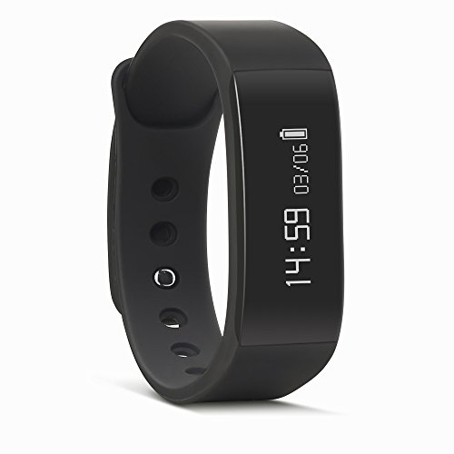 August Home Fitness Tracker, Activity Tracker Smart Health Wristband with OLED Display, Notifications, Sleep, Heart Rate Pedometer Monitor Android & Ios App Enabled